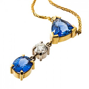 sapphire and diamond pendant Christchurch