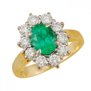 emerald and diamond ring Christchurch