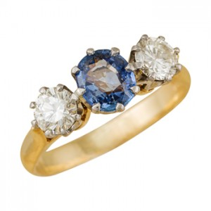 sapphire and diamond ring Christchurch